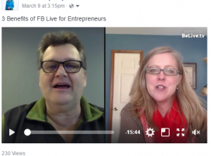Benefits of FB Live for Entrepreneurs