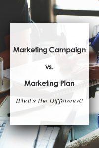 marketing plan vs. marketing campaign